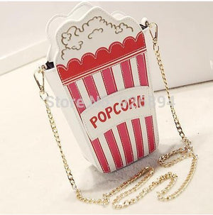 Hot  Fashion Personality Embroidered Letters Popcorn Shape Chain shoulder bag messenger bag ladies handbag clutch purse 5 colors