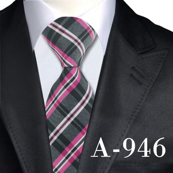 2016 Plaid Classic Tie Silk Necktie for men 8.5CM