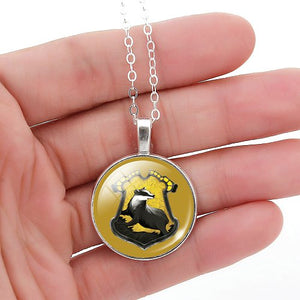 glass cabochon Harry Potter necklace art picture antique Bronze chain necklace choker necklace jewelry fashion women 2016