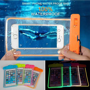 Swim photography Waterproof Bag Underwater Luminous Case
