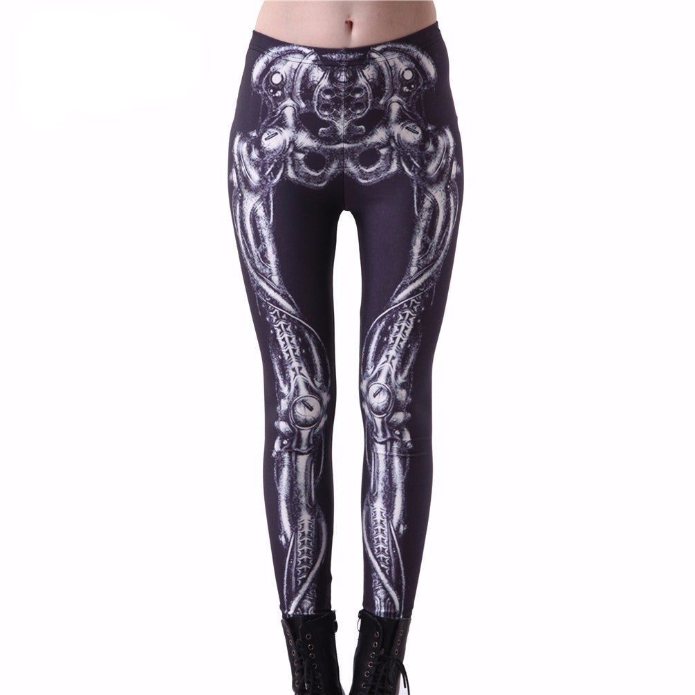 High quality leggings 2016 fashion Mechanical Bones