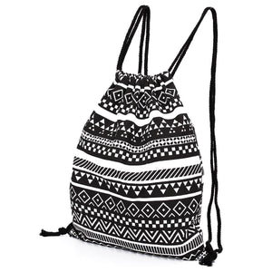 National Women Canvas Drawstring Backpack Newest Vintage