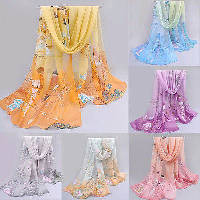 Fashion Chiffon Women Ladies Scarf Neck Shawl Scarf