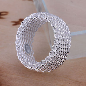 925 sterling silver jewelry ring fashion net ring top quality