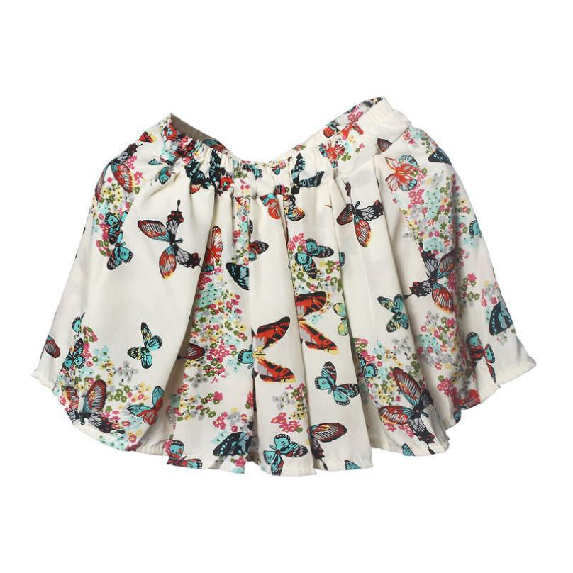 Casual Summer Style Skirt Fashion Chiffon Mini Flower