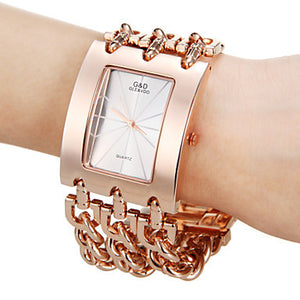 Bracelet Watch Quartz Men Women Unisex Silver Wristwatch