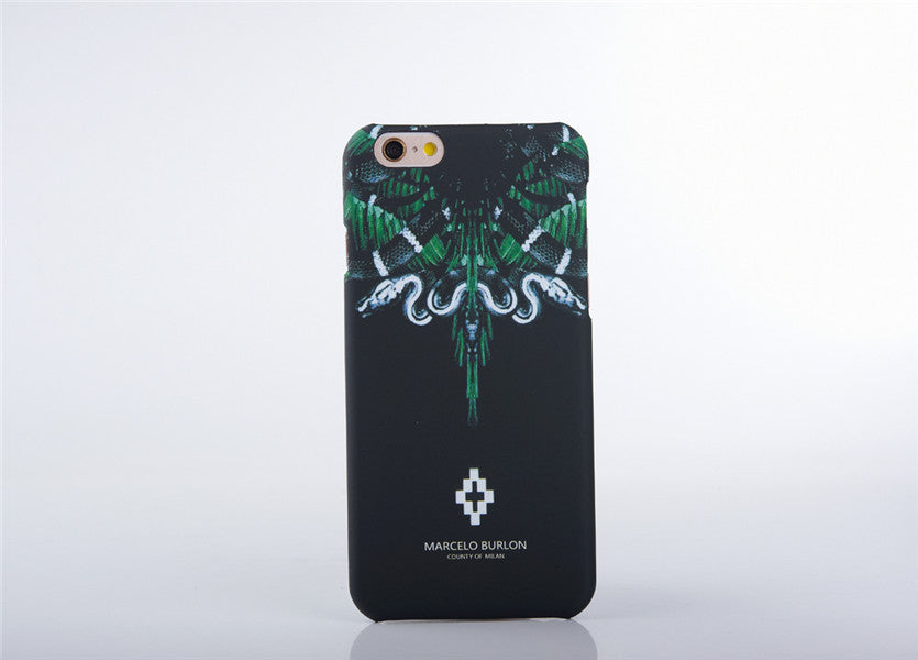 2016 New Fashion marcelo burlon Wolf Owl Snake Designs PVC