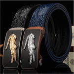 2016 New microfiber Leather crocodile grain business men belt