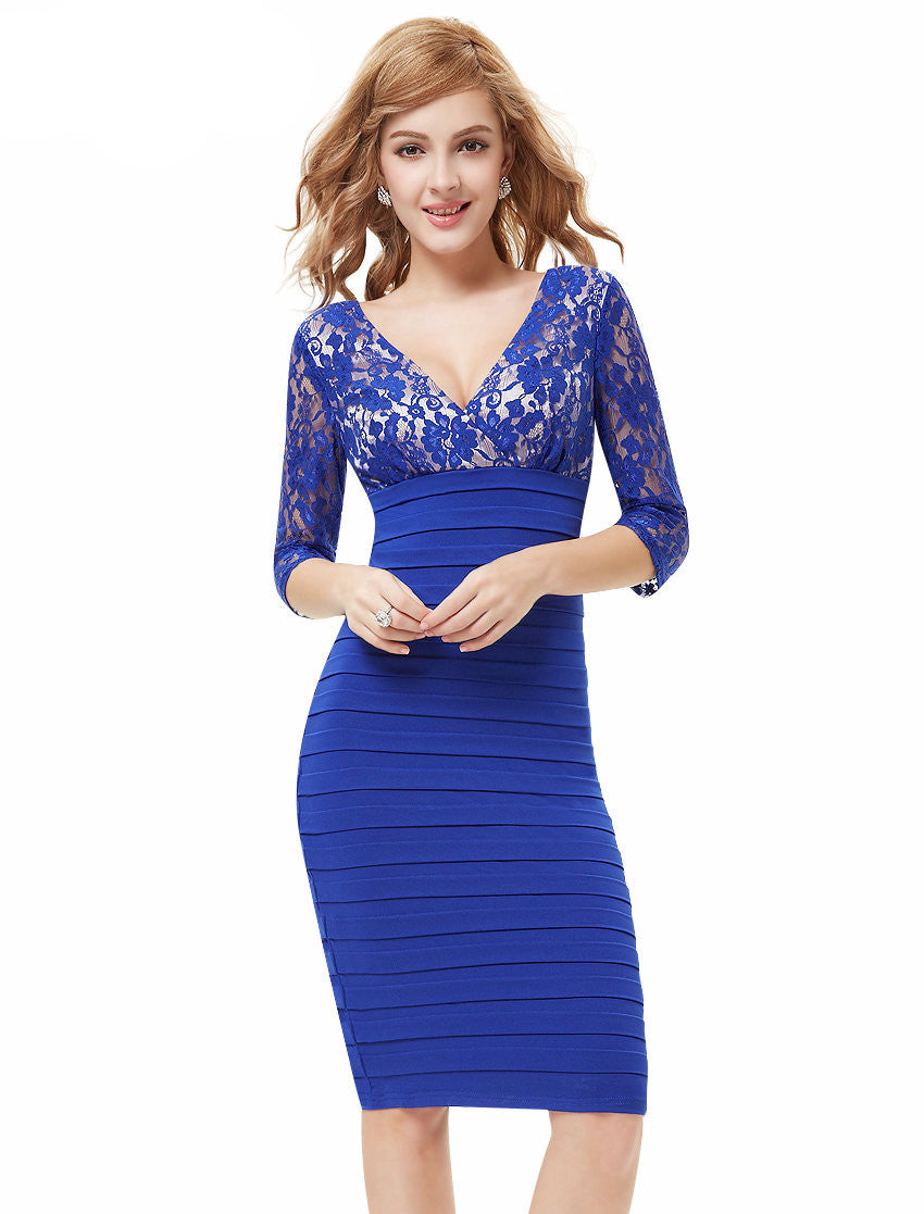 Free Shipping Ever-Pretty 3/4 Sleeve Lace Women's Coctail Party Dresses 2016 New