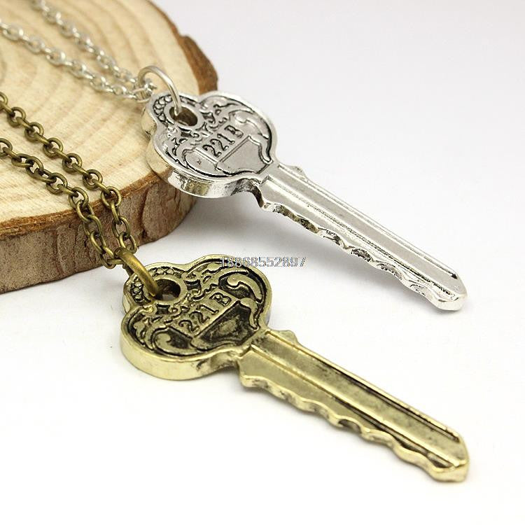 20PCS a lot The Key to 221B A Sherlock Necklace OINFOS01