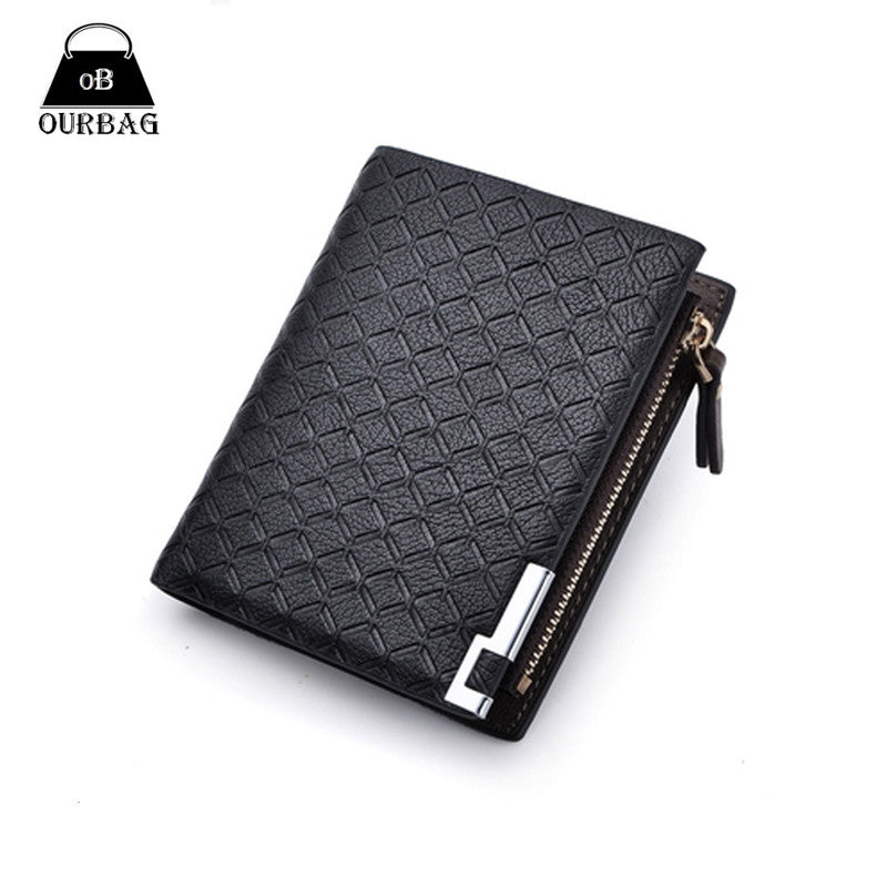 New Multifunction Man Wallets 3 Colors Mens PU Leather Zipper