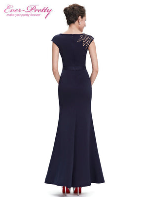 Evening Dress Ever Pretty Royal Blue Women Elegant Round Neck Vestido De Festa Longo Long Dress 2016 Evening Dresses