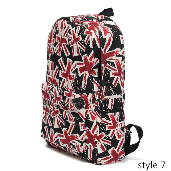 Canvas Graffiti Cartoon Backpack Graffiti Printing Student Travel