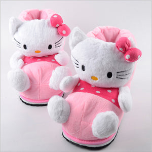 2016 Hello Kitty explosion models high-top cotton slippers