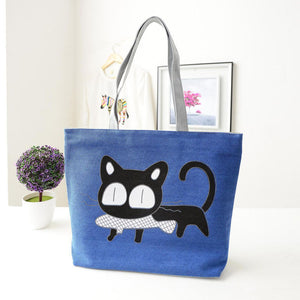 2016 Famous Brand Women Handbag Fashion Female Cat Ladies Large Clutch Bag Woman Canvas Casual Handbags Shoulder Tote Bag Bolsos