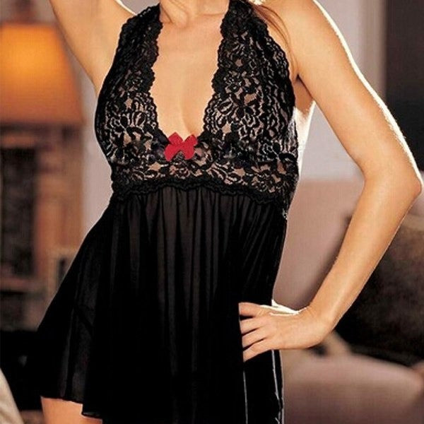 Sexy Ladies Lace Dress Babydoll Lingerie Nightwear
