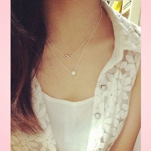 Hot Sale Sparkling Infinite Love gold Pendant necklace short paragraph Sparkle Love golden Clavicle chain 18k Statement Necklace