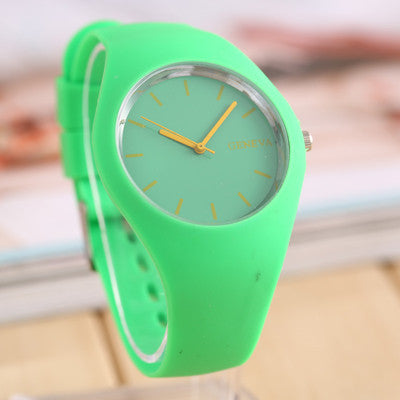 New Geneva Movement Silicone Watch Candy
