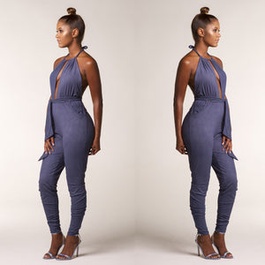New rompers WomenJumpsuit 2016 New Arrival Tight Long Pants Sexy v-neck Bandage upper outer garment