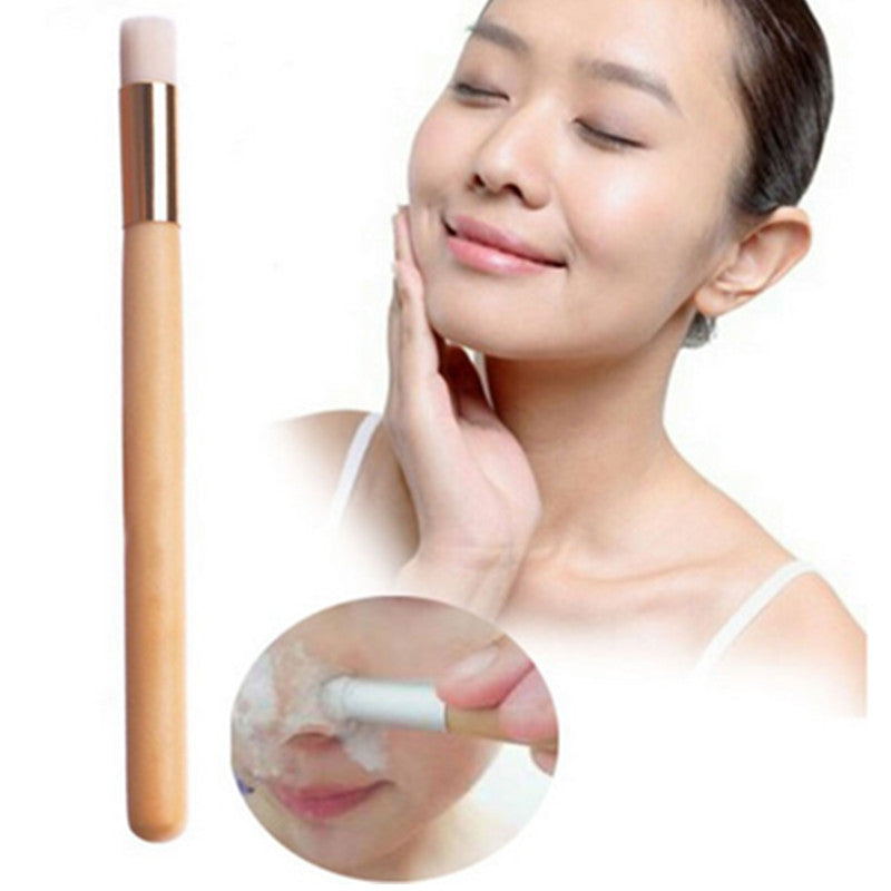 1 Pcs Brand New Beauty Nose Blackhead Washing Cleaning Brush Wooden Makeup Brushes - Gifts Leads