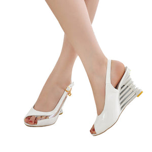 New Summer Crystal Shoes Woman Sweet And Comfortable