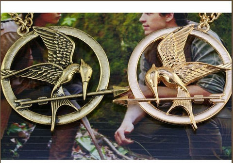 Sunshine jewelry store hunger game Logo bird necklace x339