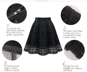 Top Skirt Gauze Plaid Stripes Skirts American Apparel