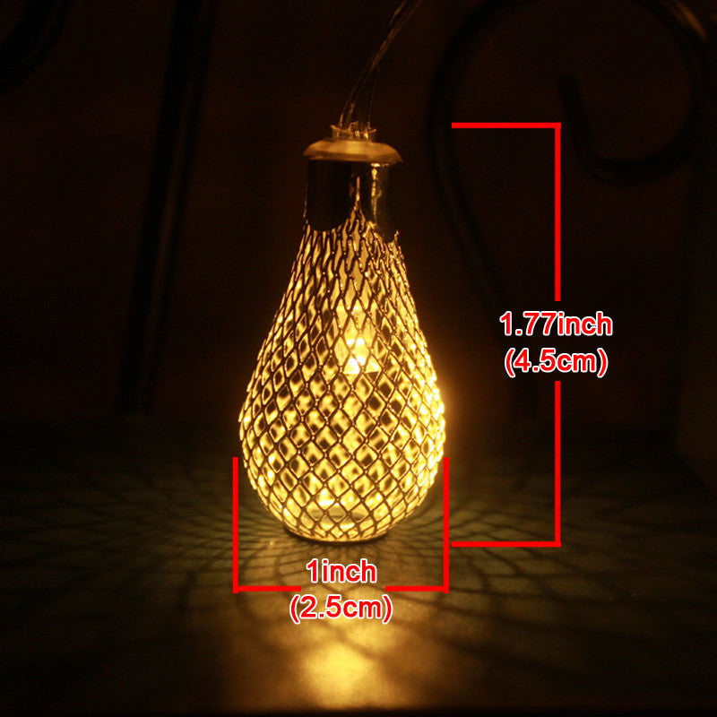 1M AA Battery Operation led string LED Metal Drip String Lights Christmas lights navidad luci nataleguirlande exterieur - Gifts Leads