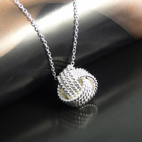 Women Wedding 925 Small Ball Silver Fashion pendant necklace 2016 top quality jewerly XL1101