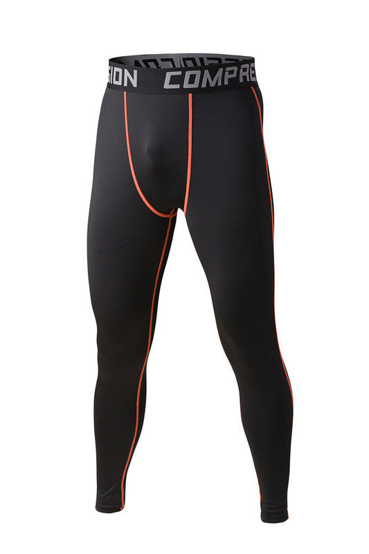 Men compression tights base layer skin pants cycling