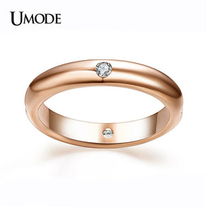 18K Rose Gold Plated Burnish 4 Pieces CZ Diamond Flush Setting Wedding - Gifts Leads