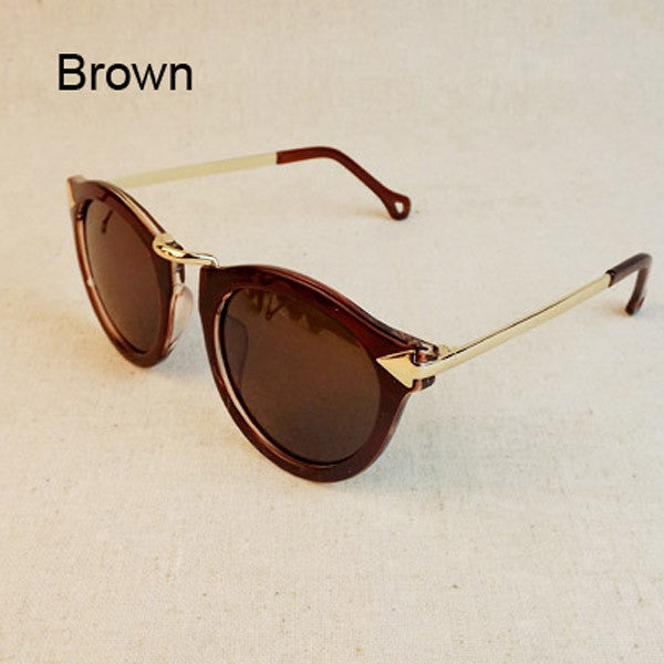 Women's Sunglasses Arrow Style Metal Frame Round