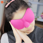 1 PCS 3d Portable Soft Travel Sleep Rest Aid Eye Mask Cover Eye Patch Sleeping Mask - Gifts Leads