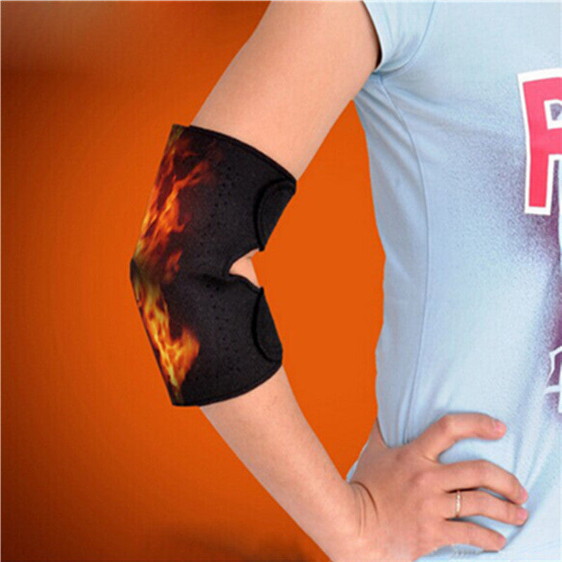 1 Pair Elbow Massager Self-heating Elbow Support Brace Thermal Tourmaline Belt Therapy - Gifts Leads