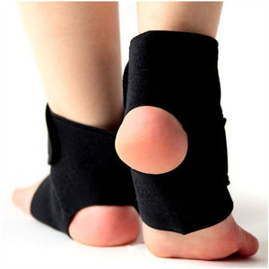 1Pair Self-heating Tourmaline Far Infrared Magnetic Therapy Ankle Support Brace Massager - Gifts Leads