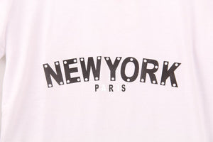 2 Colors 2016 Summer Style T shirt Women Flashy New York Printed Printing T-shirt Women Fashion New Tops Tee Shirt Femme Sakura - Gifts Leads