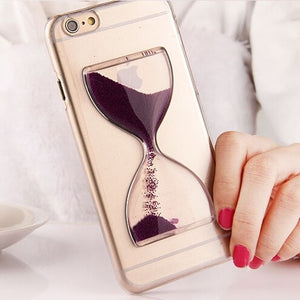 For iPhone 6 Hourglass Cover 3D Cute Glass Clear Case For iPhone 6