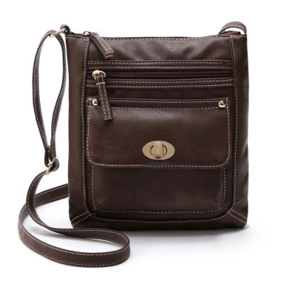 New brand bolsa femininas 2016 Leather Satchel Womens solid Cross Body Shoulder Messenger tote Bags Gift 1 pcs