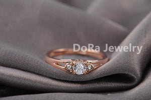 Italina Rigant 18K Rose Gold Plated Genuine Austrian Engagement Ring