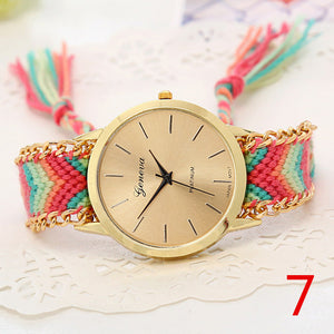 Handmade Braided Friendship Bracelet Watch