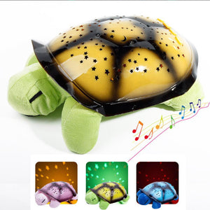 Most Popular Educational 5 Colors 4 Songs Toys Turtle Plush Musical LED Night Sky Lights For Kids As Birthday Gift