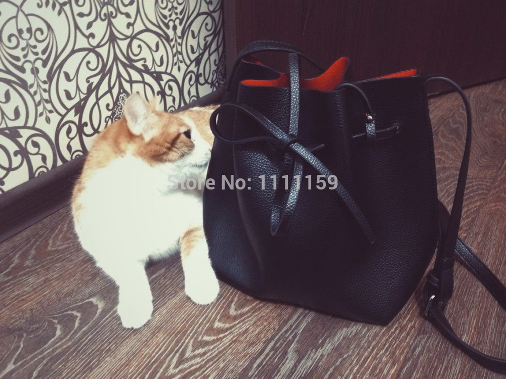 Free shipping Fashion 2016 candy color fashion all-match bucket bag  pu leather one shoulder cross-body women's handbags