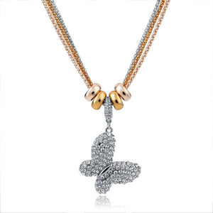 2017 New Design Necklace & Pendant Gold Silver Chain Long Necklace Full Rhinestone Ball Pendant Necklace For Women