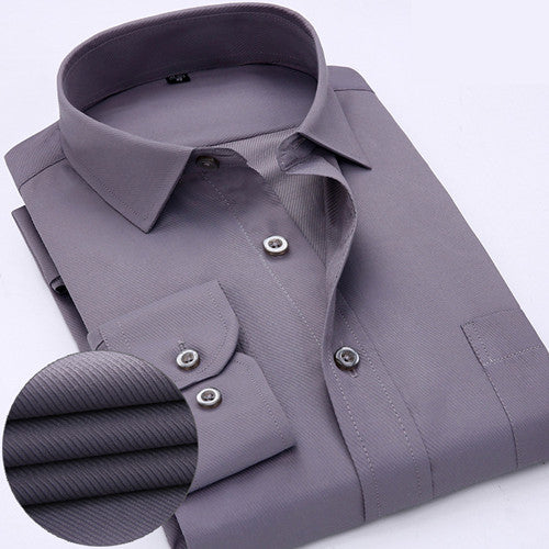 Mens Dress Shirts Double Collar Casual Slim Fit