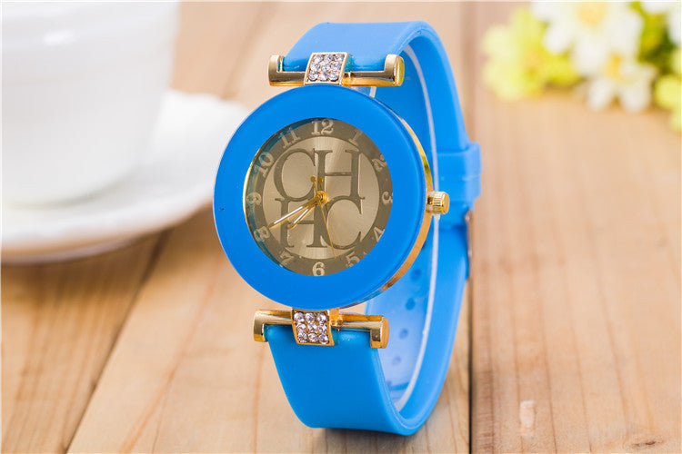 2016 New Gold Geneva Casual Quartz Watch Women