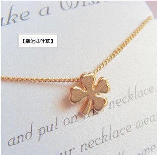 You can mix different items cheapest pendant necklace gold color chain necklace clavicle chain pendant  necklace