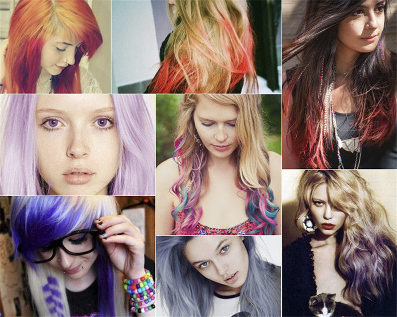Hot Selling 12 Colors Non-toxic Temporary Salon Kit Pastel Square Hair Chalk Beauty Hari Colors Pastel Chalk Use for hair