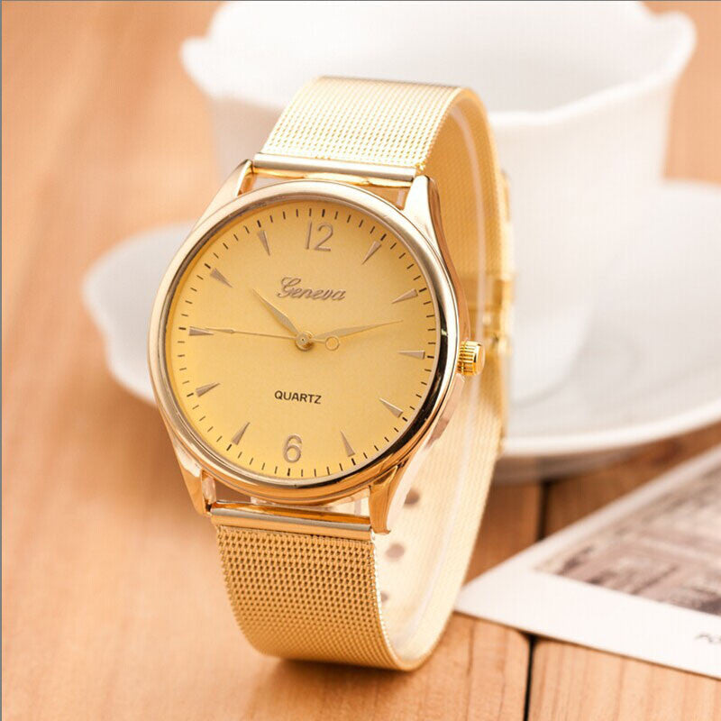 2016 Super Montre, 1PC Fashion Womens Classic Watch Gold