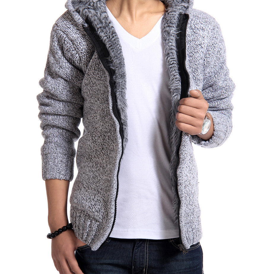 2016 Autunm Winter Fur Lining Thicken Hoodies Man - Gifts Leads