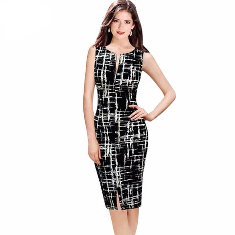 2016 Casual Women Bodycon Dress Women Print O-Neck - Gifts Leads